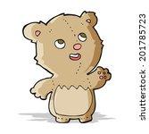 cartoon happy little teddy bear   Shutterstock .eps vector #201785723