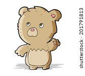 cartoon teddy bear   Shutterstock .eps vector #201791813