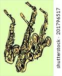 saxophone | Shutterstock .eps vector #201796517