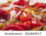 salad of roasted peppers with...