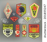 set of emblems college sport... | Shutterstock .eps vector #201855247
