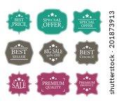 vector vintage sale label set... | Shutterstock .eps vector #201873913