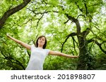 enjoying the nature. young... | Shutterstock . vector #201898807