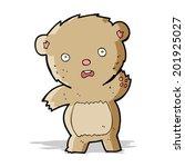 cartoon unhappy teddy bear   Shutterstock . vector #201925027