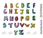 cartoon alphabet | Shutterstock .eps vector #201949603