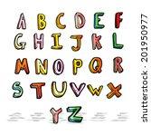 cartoon alphabet | Shutterstock . vector #201950977