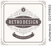 vintage design template. retro... | Shutterstock .eps vector #201959833