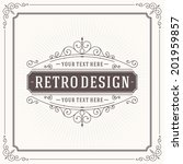 vintage design template. retro... | Shutterstock .eps vector #201959857