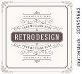 vintage design template. retro... | Shutterstock .eps vector #201959863
