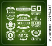 back to school vector design... | Shutterstock .eps vector #201961867