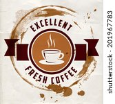 coffee label for cafe in blotch ... | Shutterstock .eps vector #201967783