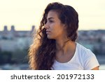 sad and depressed woman | Shutterstock . vector #201972133