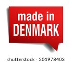 made in denmark red 3d... | Shutterstock . vector #201978403