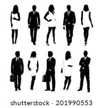 collection of people... | Shutterstock .eps vector #201990553