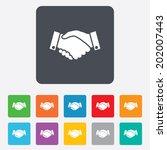 handshake sign icon. successful ... | Shutterstock .eps vector #202007443