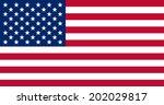 american flag vector eps 10 | Shutterstock .eps vector #202029817