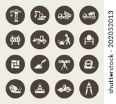 construction icon set | Shutterstock .eps vector #202032013