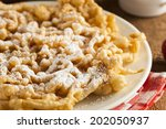 Homemade Funnel Cake With...
