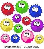 fuzzy balls dust balls draw... | Shutterstock .eps vector #202059007