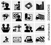 engineering vector icons set on ... | Shutterstock .eps vector #202069243
