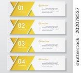 design clean number banners... | Shutterstock .eps vector #202078537