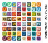 flat design  score board | Shutterstock .eps vector #202142503