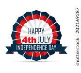 vector 4th of july independence ... | Shutterstock .eps vector #202169287
