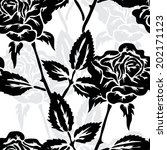 elegant seamless pattern with... | Shutterstock . vector #202171123