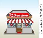 drug store icon. vector... | Shutterstock .eps vector #202193317
