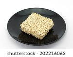 a block of dried instant... | Shutterstock . vector #202216063