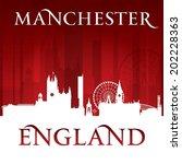 manchester england city skyline ... | Shutterstock .eps vector #202228363