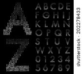 alphabetic fonts and numbers | Shutterstock .eps vector #202278433