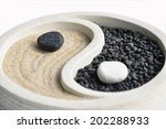 Ying yang and  zen garden
