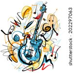guitar solo | Shutterstock .eps vector #202297063