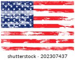 grunge usa flag.vector | Shutterstock .eps vector #202307437