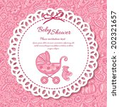 baby shower  greeting card for... | Shutterstock .eps vector #202321657