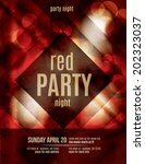 red light effect party... | Shutterstock .eps vector #202323037