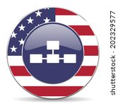 database american icon  | Shutterstock . vector #202329577