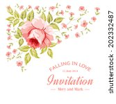 luxurious vintage card of color ... | Shutterstock .eps vector #202332487