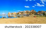 a panorama of a port in... | Shutterstock . vector #202338007