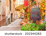 entrance to local shop in... | Shutterstock . vector #202344283
