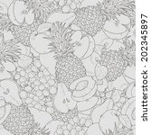 different fruits seamless... | Shutterstock .eps vector #202345897