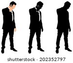successful businessman with... | Shutterstock .eps vector #202352797