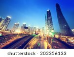 escalator in shanghai lujiazui... | Shutterstock . vector #202356133