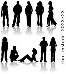 vector silhouettes man and...   Shutterstock .eps vector #2023723