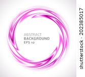 abstract purple and pink swirl... | Shutterstock .eps vector #202385017