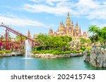 singapore   june 25  tourists... | Shutterstock . vector #202415743