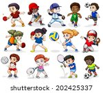 illustration of the kids... | Shutterstock .eps vector #202425337
