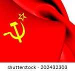 flag of the soviet union. close ... | Shutterstock . vector #202432303