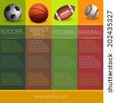 sports info graphic design | Shutterstock .eps vector #202435327